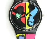 Swatch Watch Mens Colored Love New in Box Vintage1988 Unisex Woman