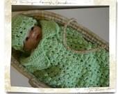 Newborn Cocoon - Green - Newborn Cocoon and Hat Set - Photo Prop -  Bring Home Baby - Unisex Baby Cocoon