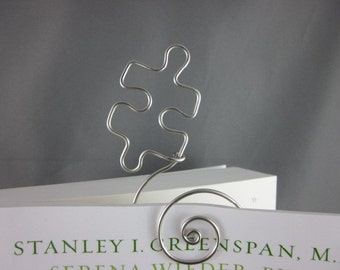 Hand Formed Wire Puzzle Piece Bookmark