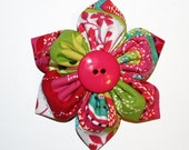 CLEARANCE SALE - Bright Colors Hot Pink, Blue, Green Flower Hairclip