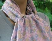 Spring sale, Floral Silk Scarf