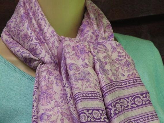 Silk scarf extra large