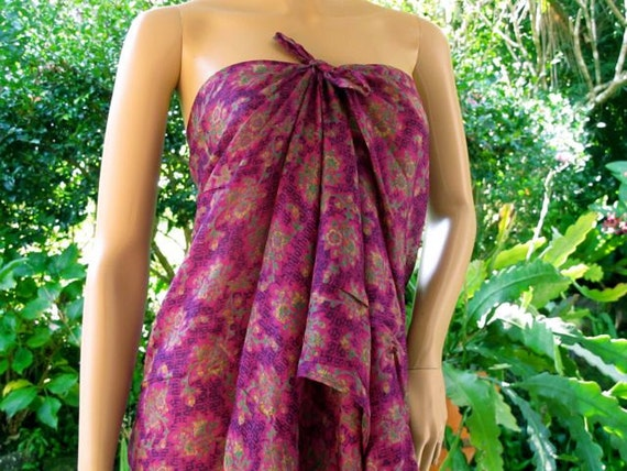Floral Silk scarf, Silk Sarong, Silk Pareo, Scarf Silk, Shawl