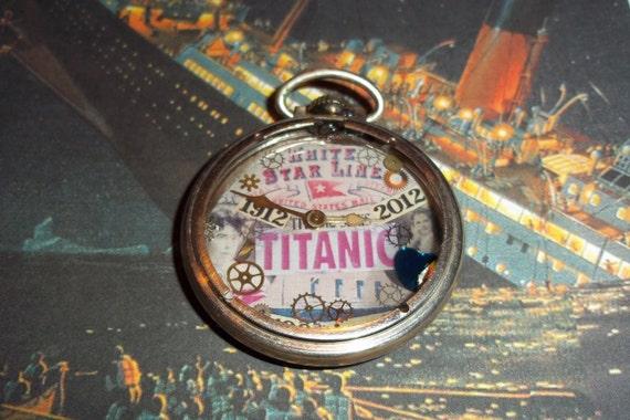 Titanic  Commemorative Antique Pocket Watch Necklace Number 1