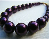 Bracelet, Beaded in Dark Purple