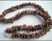 Necklace, Brown Shell Chips, Unisex, Beach, Tropical