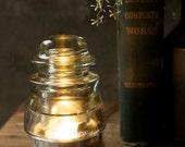 Industrial Glass Desk Lamp - Telegraph Insulator Steampunk Lamp