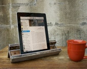 iPad Stand and Amplifier - Salvaged Wood Shabby Chic Design