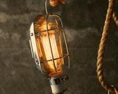 Lamp Cool Gifts for Men Industrial Lamp Hanging Light Cage Lamp Mens Gifts by Luke Lamp Co.