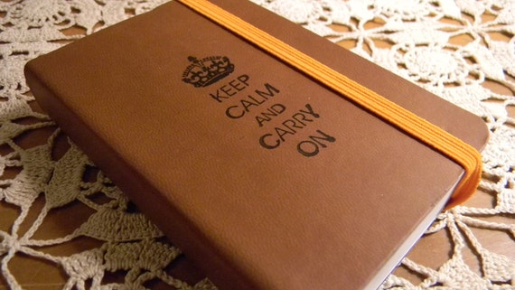 Keep Calm Carry On Pocket Journal Sketch Book Pad