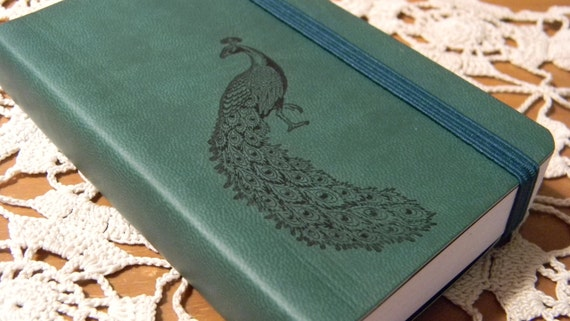 Peacock Pocket Journal Sketch Book Pad