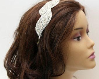 Bridal Headband, Rhinestone Bridal Headband, Crystal Wedding Headband, Wedding Bridal Hair Accessories
