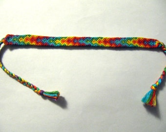 Rainbow Friendship Bracelet