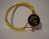 Arm Party: Nautical Leather and Rhinestone Bracelet Anchor Button
