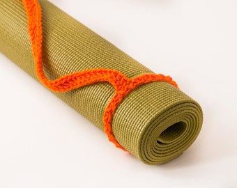 Yoga Mat Strap, Pumpkin Orange, Slim Tote Handle - US Shipping Included, Original HH Design