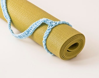 Yoga Mat Strap Yoga Mat Sling, Light Blue, Original HH Design Slim Tote Handle - US Shipping Included,