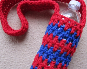 Bottle Sling, Striped - Made to Order, Custom, Color Choice Shipping Included