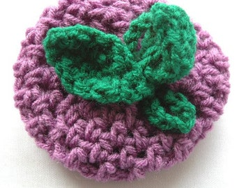 Fruit Cozy, Medium Purple and Paddy Green, Cortland Apple - US Shipping Included