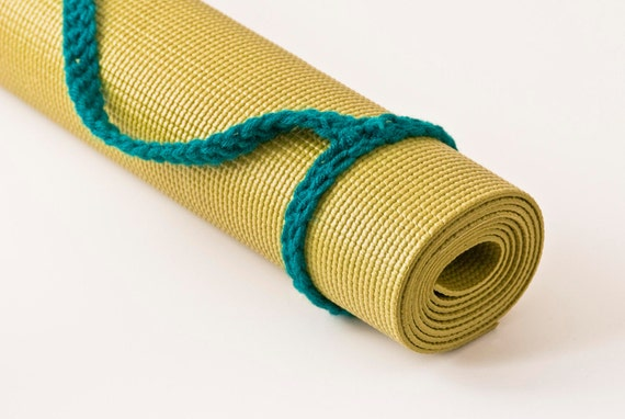 Yoga Mat Sling, Teal, Slim Tote Handle - US Shipping Included,