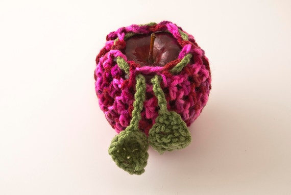 Pink Lady Apple/Fruit Cozy, Candy Print and Tea Leaf - US Shipping Included,
