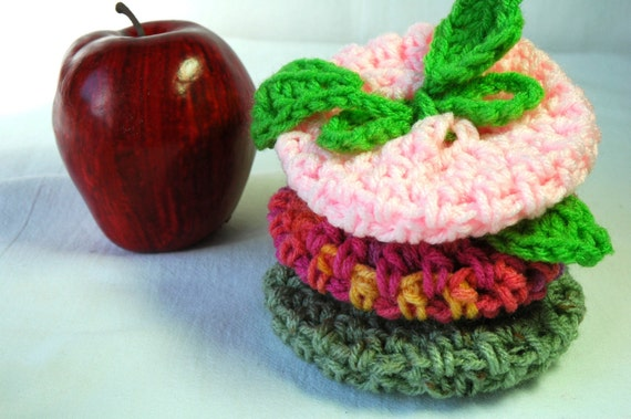 Sun Crisp Apple/Fruit Cozy, Baby Pink and Spring Green - US Shipping Included