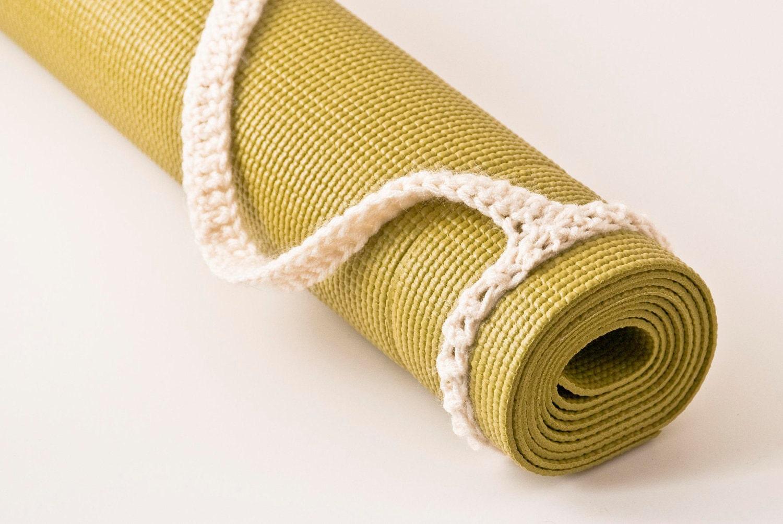Yoga Mat Strap Yoga Mat Sling Aran White Slim Tote Handle