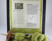Drop Spindle Kit, Spindle, 4 page colour instructions, 1 oz of Fleece