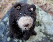 Black Bear Needle Felted Toy, Ornament or Decoration