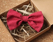 Red Polka Dots Pre-tied Bow Tie