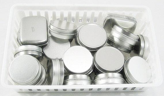 Tin Metal Container Storage Gift Boxes 28 Round Rectangular