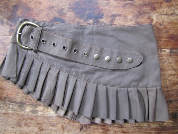 leather mini skirt steampunk antique ddistressed leather mini skirt brown leather mini skirt steampunk antique distressed leather skirt