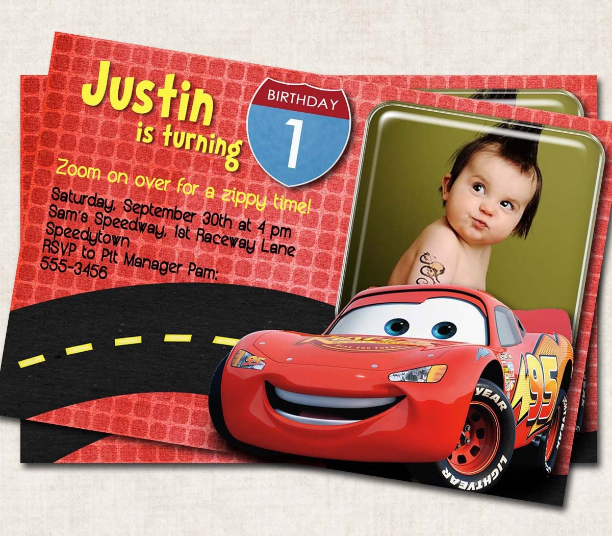 Cars Birthday Party Invitation By Missbellaexpressions On Etsy