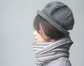 Chunky Brim hat, in Grey