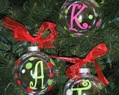 6 Personalized Christmas Ornaments for 40.95