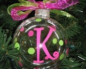 Personalized Ornaments with a Name or Initial...Great for Christmas and Gifts...