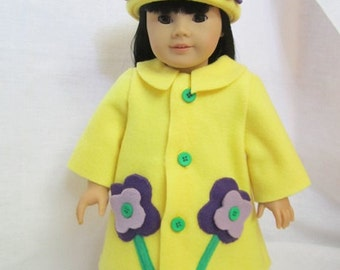 Yellow fleece swing coat (Flower Coat)