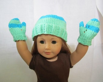 Green/Blue Knitted Hat