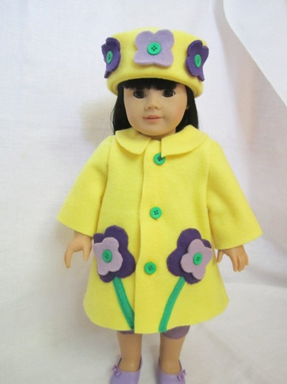 Yellow fleece swing coat (Flower Coat)