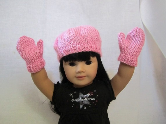 Pink Beret and mittens
