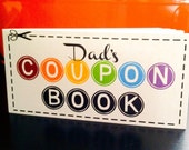 Father's Day Gift - Dad's Coupon Book - 12 coupon notepad - gift for dad - fill in