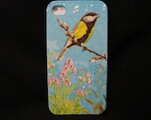 Singing  bird    iphone 4s case/ iphone 4s cover / iPhone 4 Case / iPhone 4 Cover Decoupage