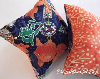 Goldfish and lanterns pin cushion