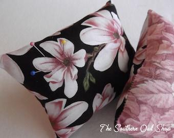 Floral print pin cushion