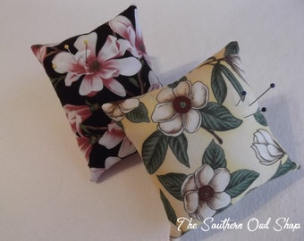 Floral print pin cushions - Set of two
