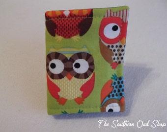 Colorful owl print needle book