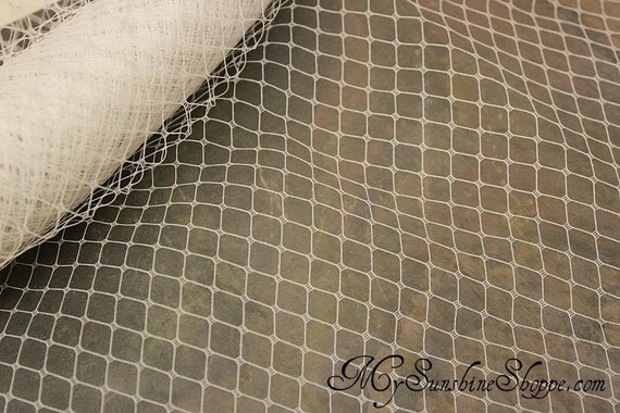 French Netting for Bird Cage Veil - WHITE