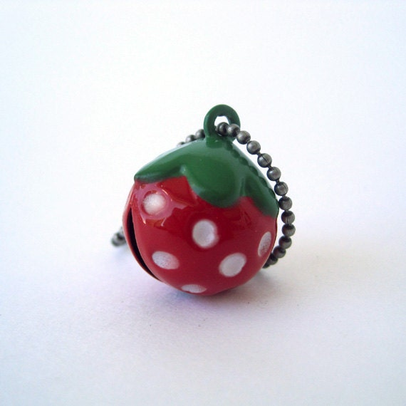 Kawaii Strawberry Bell Charm