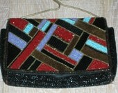 Fabulous Vintage Beaded Art Deco Purse In Perfect Condition
