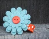 Handmade Felt Flower Clips - Flower Clips - No Slip Grip - Alligator Clip for Baby Toddler Girls