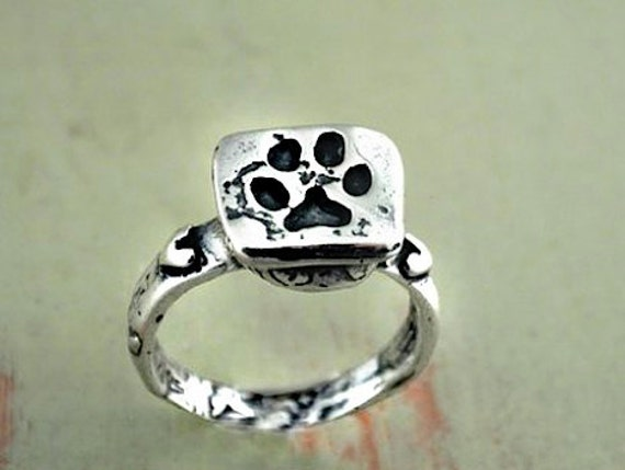 Dog Ring Puppy Paw Ring Pet Jewelry Handmade by islandcowgirl